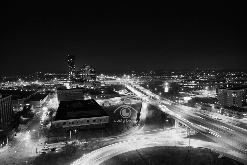 Grand Rapids Black and White Print